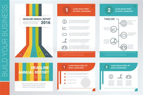 design elements report annual report book cover and presentation template stock