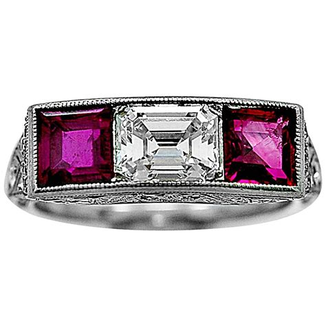 bailey banks and biddle antique ruby ring at 1stdibs