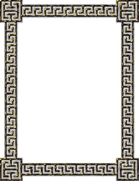 greek pattern frame clipart greek key frame 7