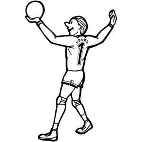 coloring pages of volleyball players volleyball player coloring page