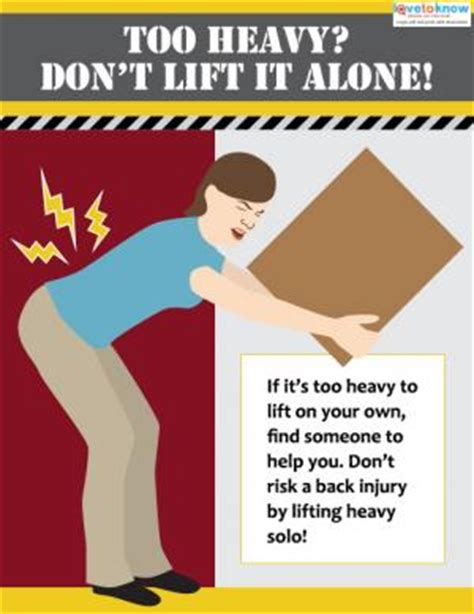 printable safe lifting poster free safety posters lovetoknow