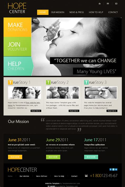 Free Homepage Template 17 charity html website templates free premium