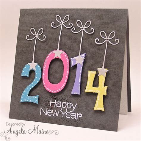 diy new year card 2016 handmade new year greeting cards 2016 pink lover