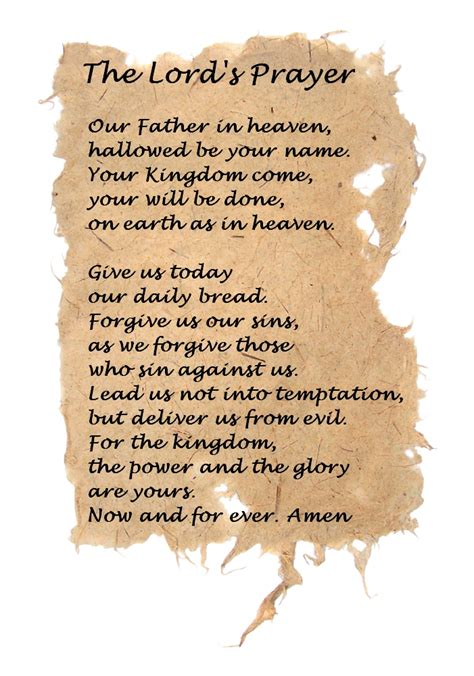 the lord s prayer posters