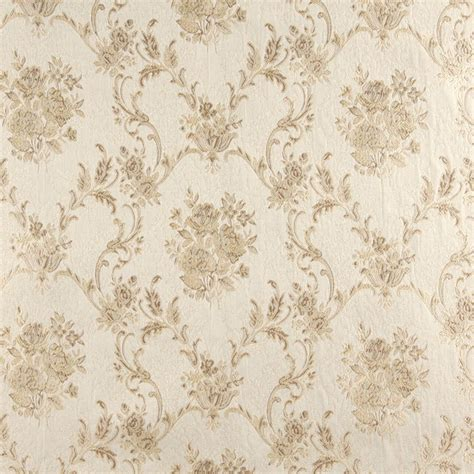 drapery upholstery fabric a0014d ivory embroidered floral brocade upholstery drapery