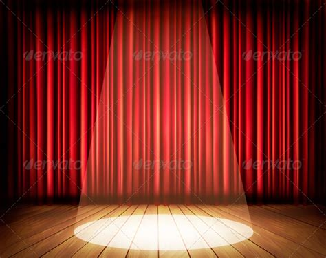 Home Theater Design Software Free by Theater Stage With A Red Curtain And A Spotlight