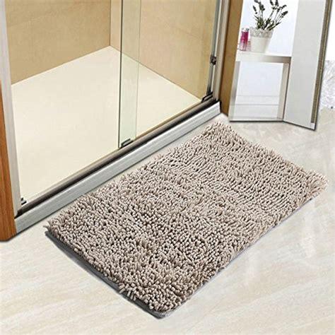 vdomus non slip microfiber shag bath mat bathroom mats vdomus non slip microfiber shag bathroom mat 20 x 32