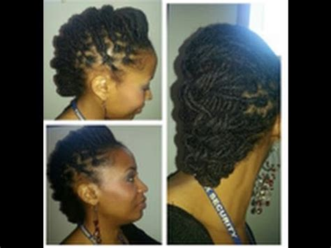 loc stylrs for medium length hair requested loc tutorial humped and tied down lol