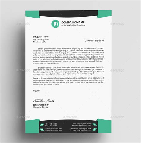 32 Professional Letterhead Templates Free Sle Exle Format Download Free Premium Professional Stationery Templates