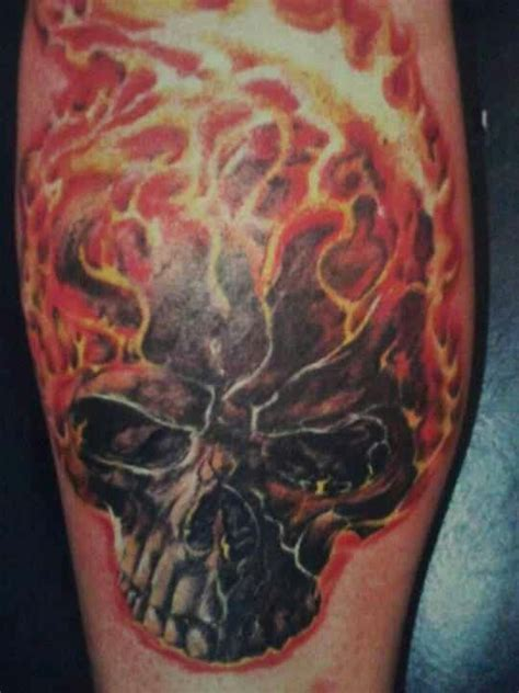 flaming skull tattoo beaus flaming skull by al farber micheal mora