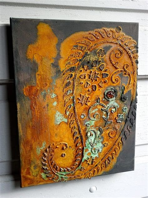 love rust canvas art  modern masters metal effects