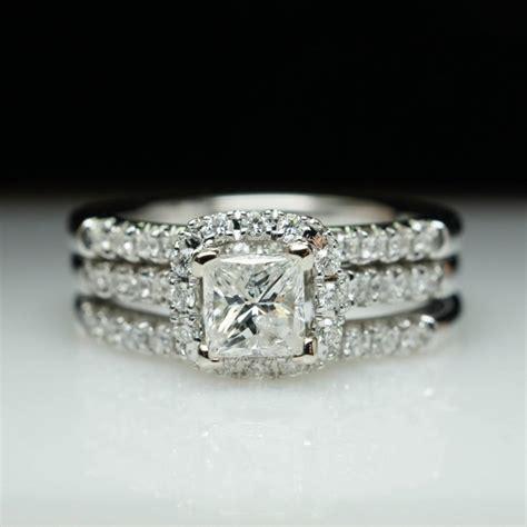 sale princess cut halo engagement ring