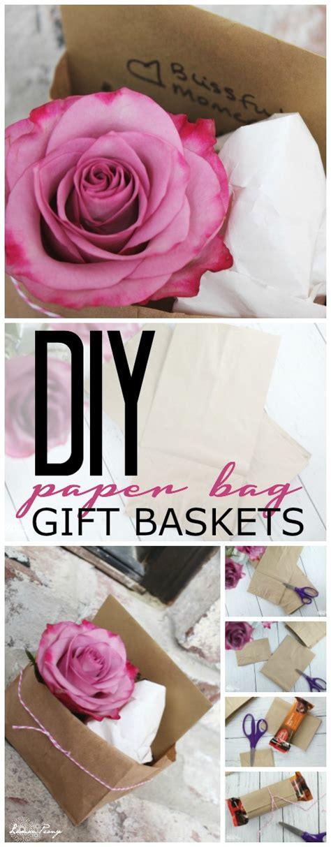 easy diy paper bag gift basket tutorial