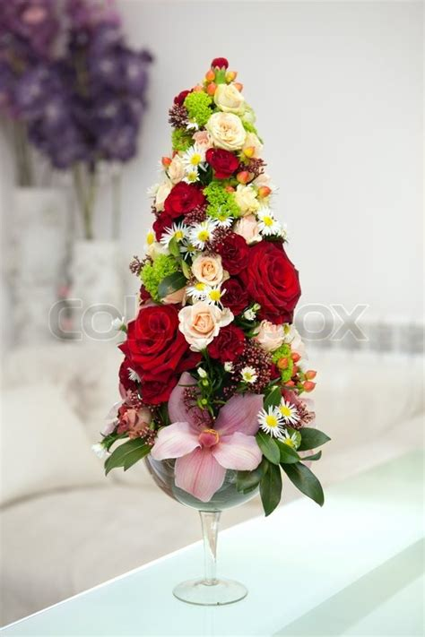 Bunch Of Flowers In A Vase by Bunch Of Flowers In A Vase Stock Photo Colourbox