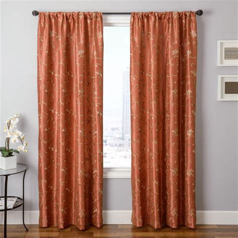 Rust Colored Curtains Designs Autumn Colored Curtains Best Home Design 2018