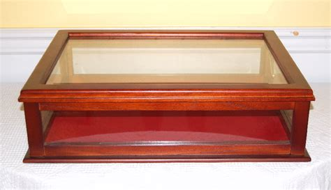 display cabinet mahogany glass new table top ebay