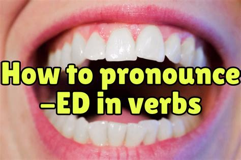how to pronounce how to pronounce ed in english verbs espresso english