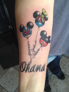watercolor tattoo vacaville name on disney balloons done by matt robinson in