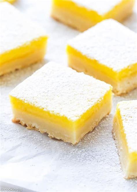 Classic Easy Lemon Bars With Shortbread Crust Recipe ... Lemon Dessert Bars