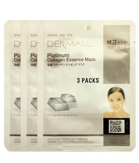 Collagen Platinum dermal platinum collagen essence mask 3 pieces buy dermal platinum collagen essence
