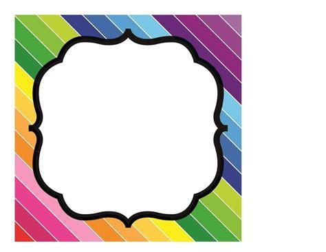 Happy Rainbow Editable Sign Template Schoolgirl Style Sign Template