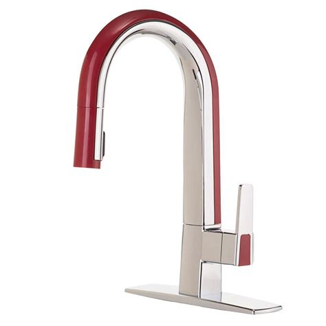 red kitchen faucet grohe minta single handle pull down sprayer kitchen faucet in starlight chrome 31378000 the