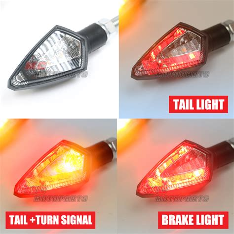 red plastic tail light material fit motorcycle plastic smoke kiva led turn signals tail