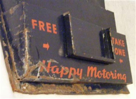vintage gas station esso road map holder display rack 1940