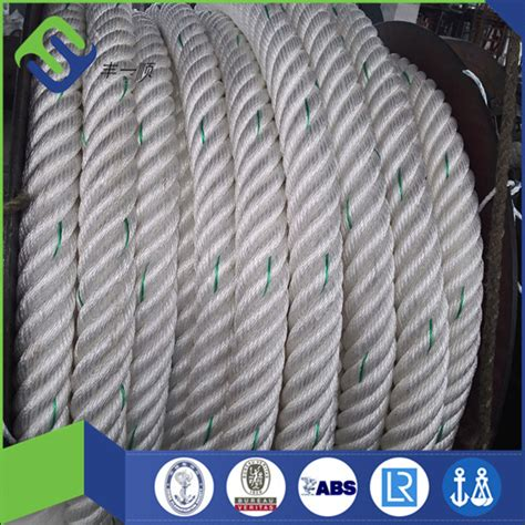 40mm double braided nylon rope 2 inch nylon white rope for
