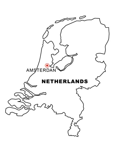 netherlands map coloring page netherlands map free coloring pages