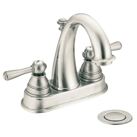 moen bathroom sink shop moen kingsley antique nickel 2 handle 4 in centerset