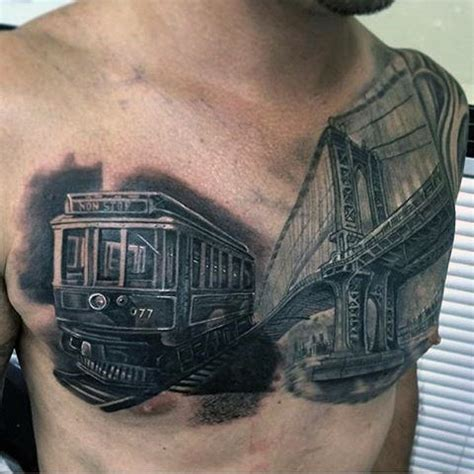 railroad tattoos 70 tattoos for masculine railroad designs