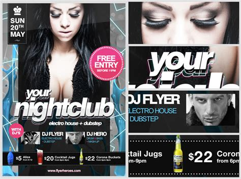 nightclub flyers templates free nightclub flyer template flyerheroes
