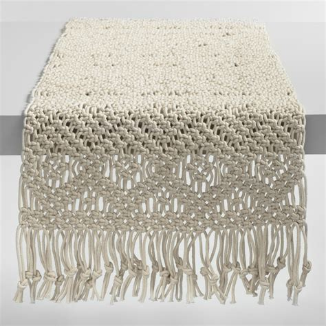 macrame table runner macrame table runner world market