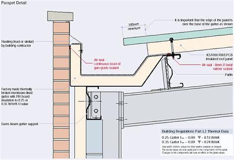 design rainfall definition parapet gutter to brick detail t6 pinterest brick