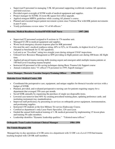 comprehensive resume sle for nurses perioperative resume surgical resume exle http surgical