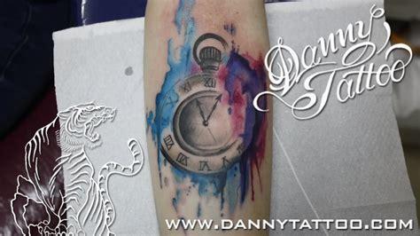 watercolor tattoo watch watercolor pocket design
