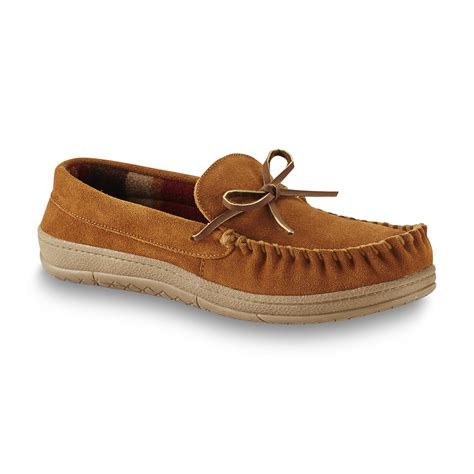 mens slippers kmart route 66 s suede leather trapper moccasin