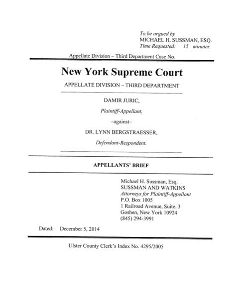 Ny Appellate Division Search Juric V Bergstraesser Ny Appellate Division 3rd Department
