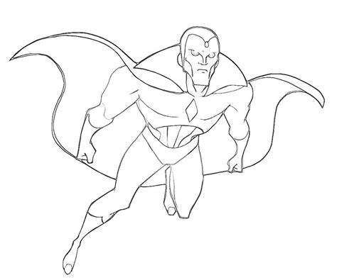 Vision Marvel Coloring Pages | free coloring pages of vision marvel