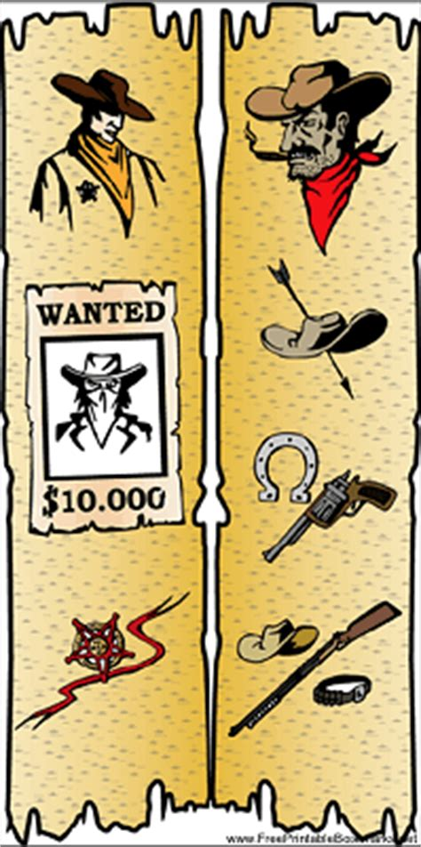 printable western bookmarks western bookmark with sheriff