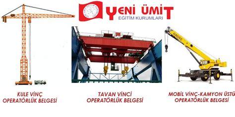 vinc operatoer belgesi yeni uemit sueruecue ve  makinesi