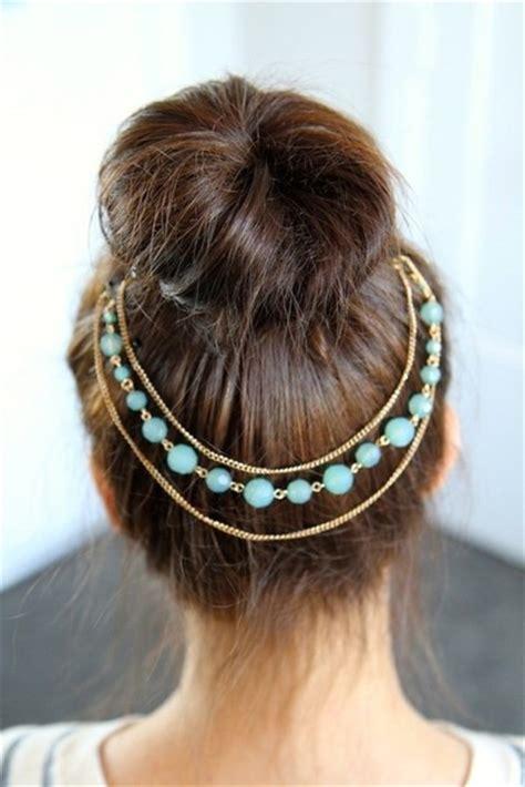hairstyles with hair jewels jewels headband beads gold headpiece art bun hair