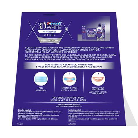 crest whitening strips supreme crest 3d whitestrips luxe supreme flexfit crest