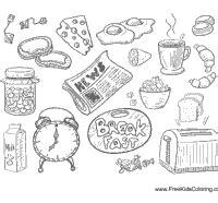 coloring pages breakfast food breakfast food coloring pages coloring pages ideas