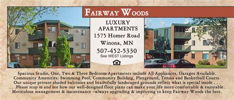 one bedroom apartments in winona mn fairway woods apartments for rent studio 1 2 and 3