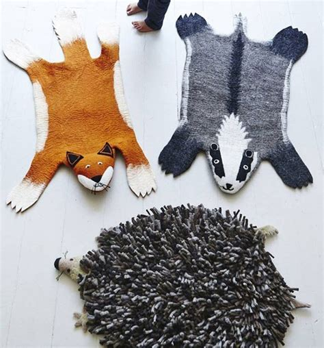 animal rug with and soft animal felt rugs for your kid s room kidsomania
