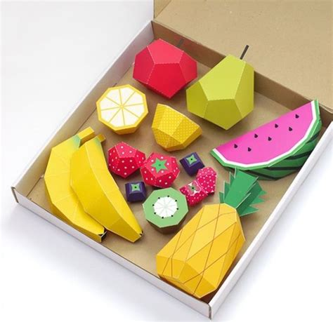 Diy Crafts With Paper - diy paper produce projects play fruit by mr printables