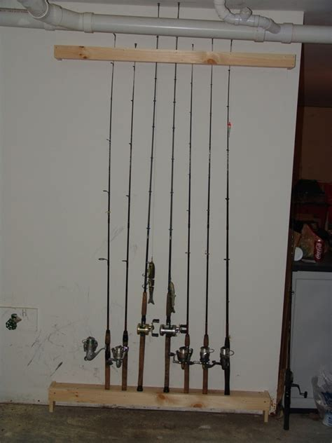 fishing rod rack diy projects