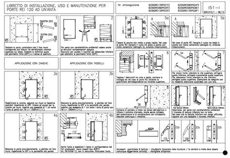 montaggio porte rei porta tagliafuoc o antipanico rei 120 90 100 130 160 170